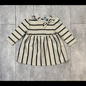 Baby Gap 6-12 Months Striped Gray Dress
